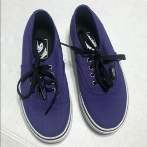 Vans Purple Classic Era Lace Up Shoes Size kids 12